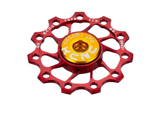 KCNC Ultra Jockey Wheel 12T SS Bearing, red